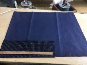 袖口回し縫い袷男着物