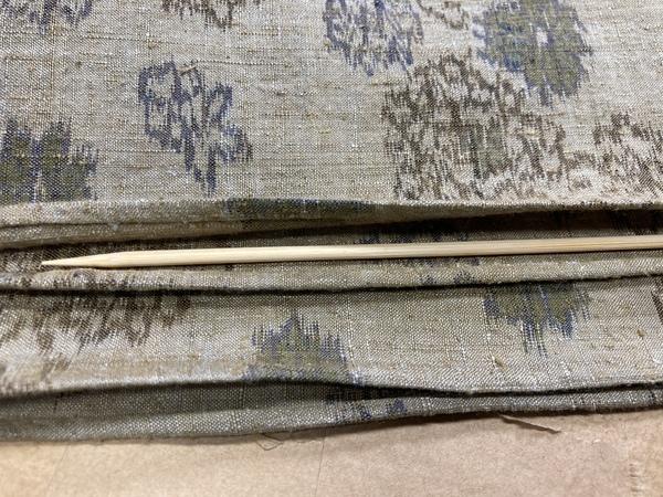 結城紬単の袖口